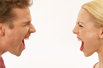 Man and Woman Screaming at Each Other